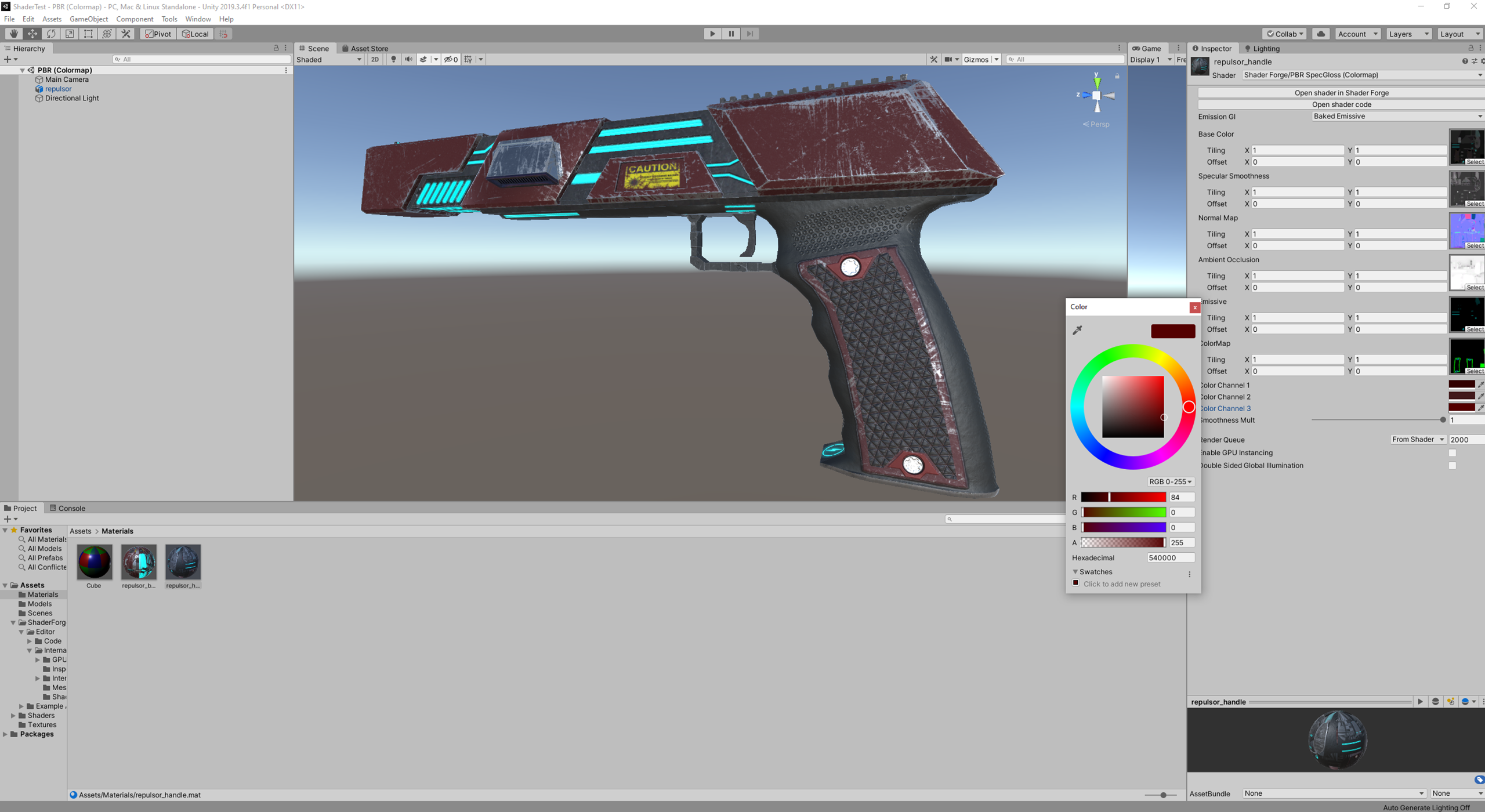 Repulsor Pistol now comes in (poorly matched) Red!