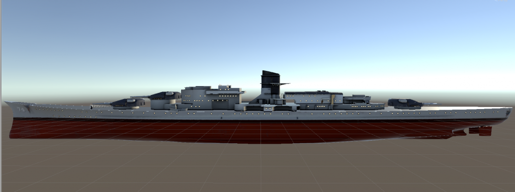 The Stiletto from afar in Unity (Early model)
